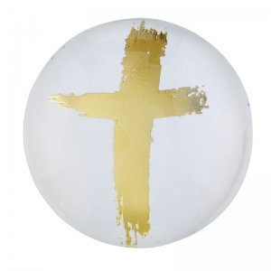 Magnanimous Round Magnet- Gold Cross