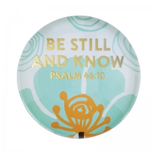 Magnanimous Round Magnet- Be Still and Know