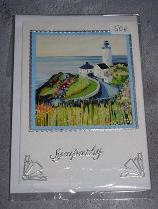 Handmade Lighthouse Sympathy Card
