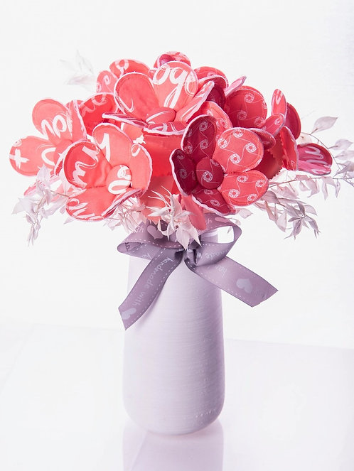 Coral Fabric Flower