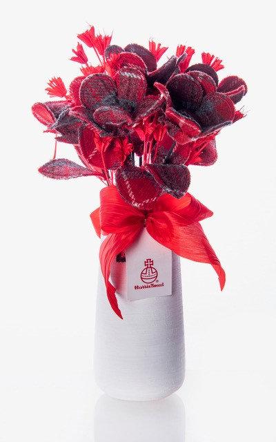 Red Harris Tweed Bouquet