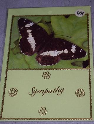 Handmade Butterfly Sympathy Card