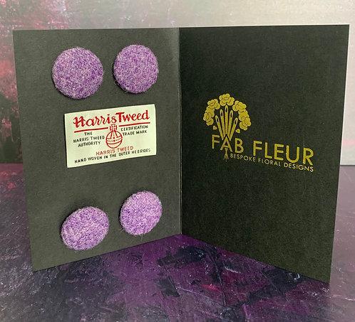 Purple Harris Tweed Buttons