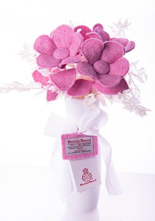 Light Pink Harris Tweed Fabric Flower Stem