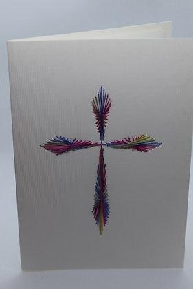 Handmade Cross Card