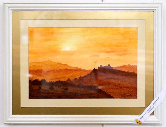 'Welsh Castle at Sunset'