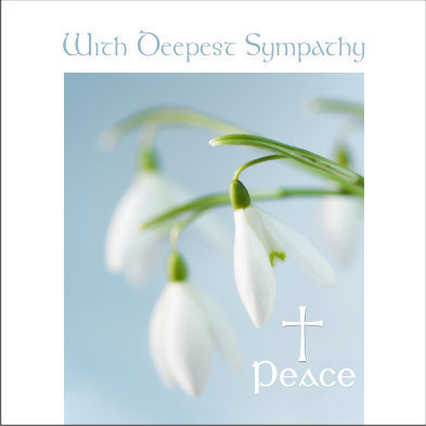 With Deepest Sympathy Flower Card