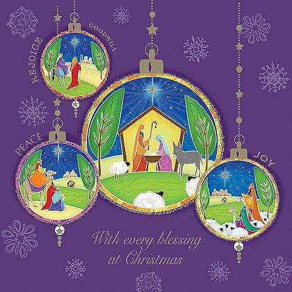 10 'Nativity Baubles' Card