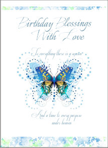 Birthday Blessings De-luxe Card