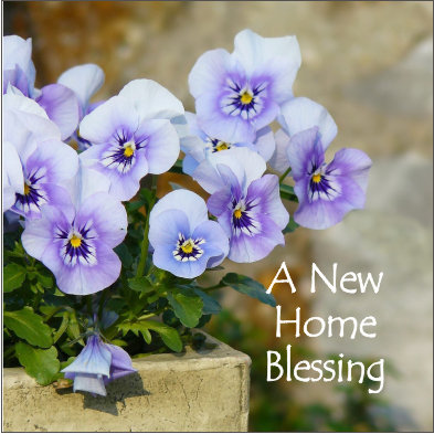 A New Home Blessing Flowers Card