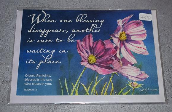 Handmade Blessing Card