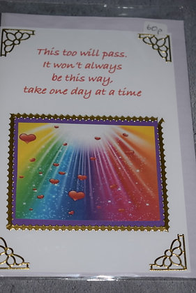 Handmade This Will Pass Card