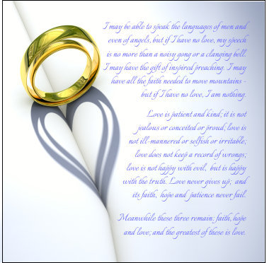 Wedding Anniversary 1 Corinthians 13 Card