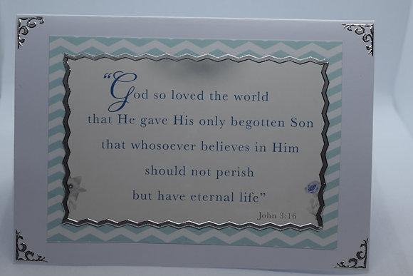 Handmade John 3:16 Card