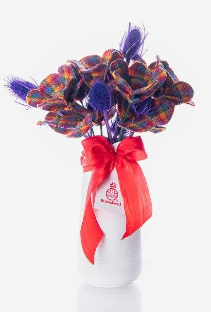 Rainbow Harris Tweed Bouquet