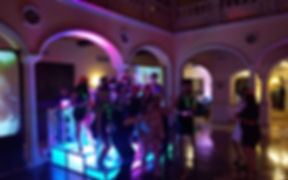 light up dance floor risers