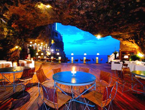Cavern Wedding, unique wedding reception idea