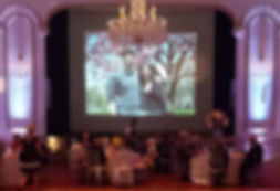 Slideshow, Projection screen
