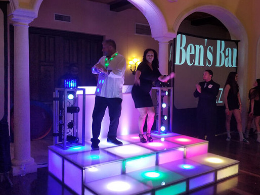 Our Light up Risers create the night club vibe and pack the dancelfoor!