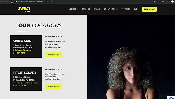 Locations Webpage