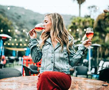 Girl Drinkin Wine