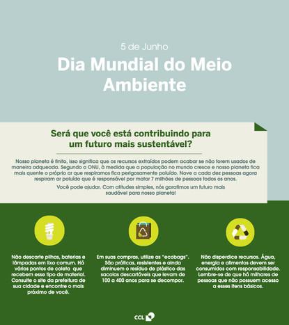 Dia mundial do meio ambiente - Comunicado