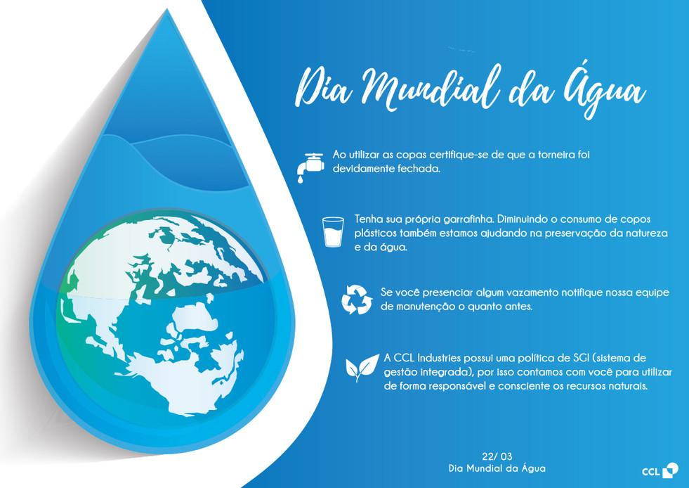 Dia mundial da Água - Comunicado