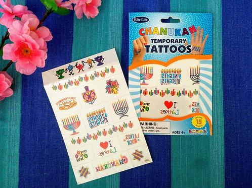 Temporary Tattoos Channukkah