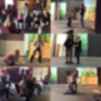 Collage of photos of teens participating in the ACT Program
