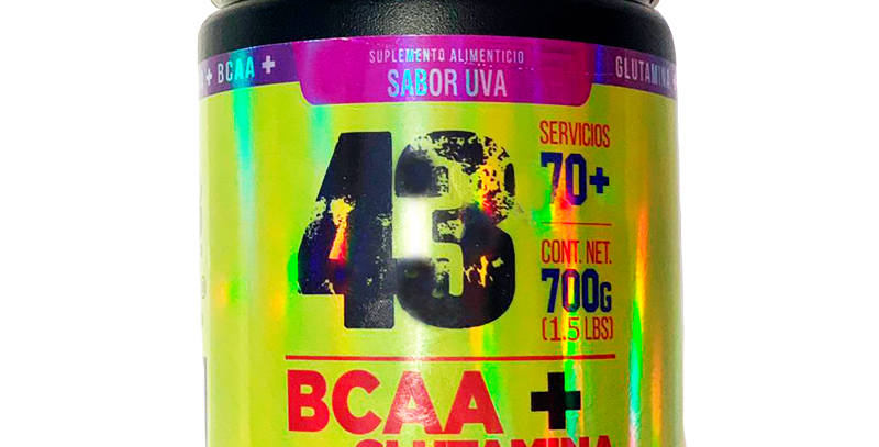 43 Bcaas + Glutamina 700 G