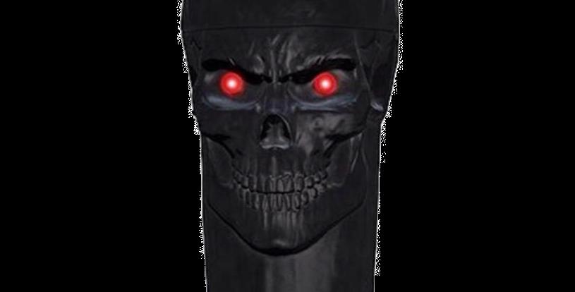 Shaker Cobra Black With Red Eyes Skull