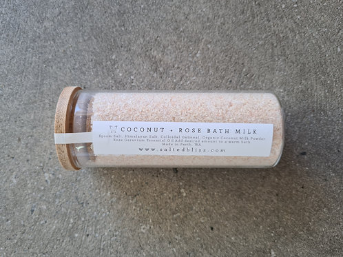 Coconut & Rose Bath Milk by Salted Bliss