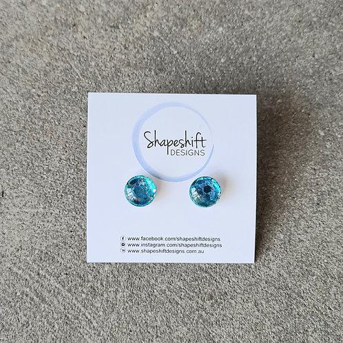 Glass Stud Earrings by Shapeshift Designs
