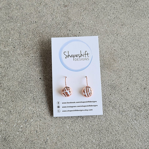 Rose Gold Dangle Earrings by Shapeshift Designs
