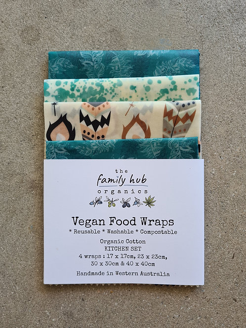 Vegan Food Wraps (4 Pack) by The Family Hub Organics