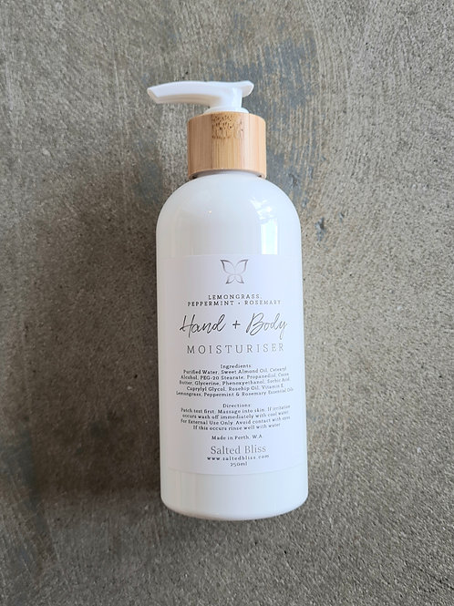 Hand and Body Moisturiser by Salted Bliss