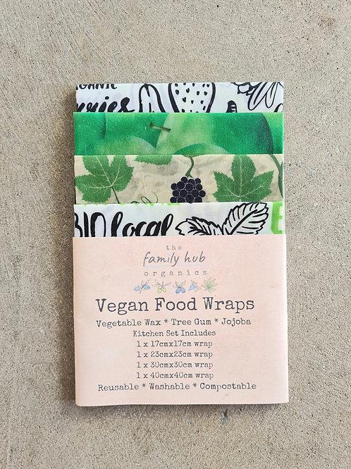 Vegan Food Wraps (4 Pack) by The Family Hub Organics