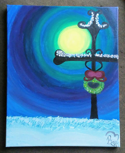 My First Paint Nite_18x24_acrylic paint_