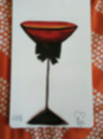Martini Wine Glass w_ Bow Tie_5.25x8.25_