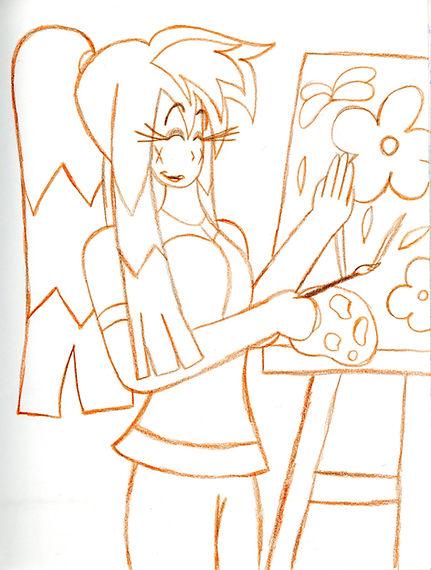 95. Flora Painting Sketch.jpg