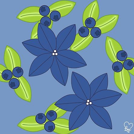 77. Blue Flowers & Blueberries.jpg
