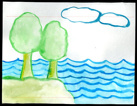 Trees & Water Watercolor Painting.jpg