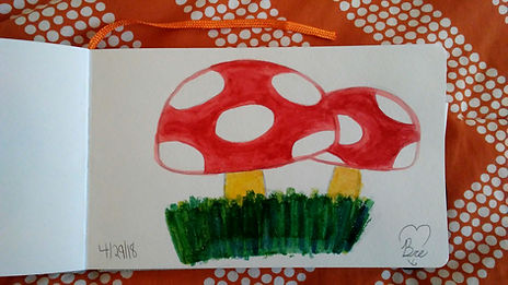 Mushrooms_5.25x8.25_watercolor paint_18.