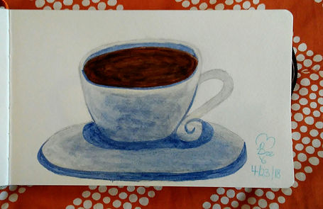 Coffee Cup_5.25x8.25_watercolor paint_18