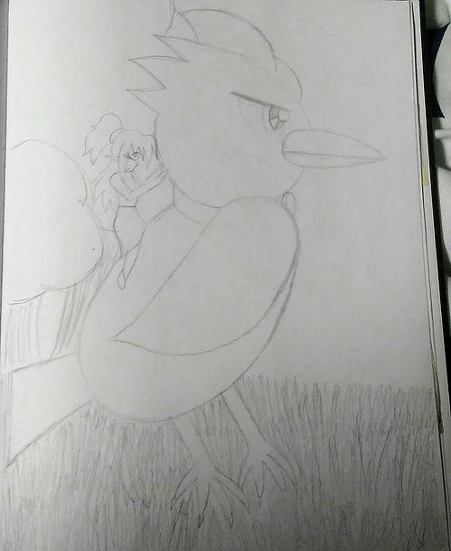 146. Diamond and her Raven Sketch.jpg