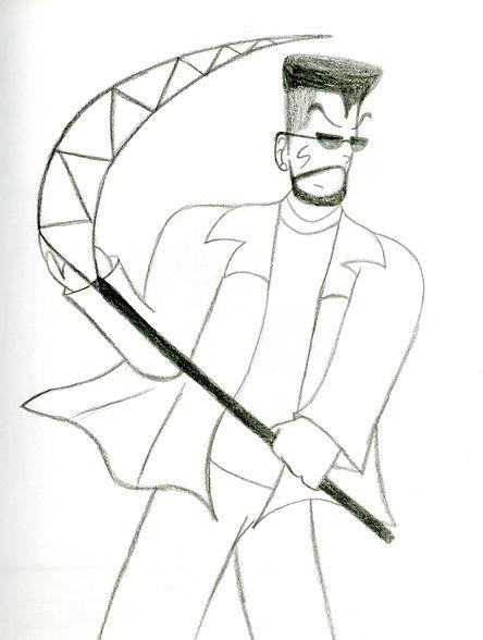 64. Slash w_ his Scythe Sketch.jpg