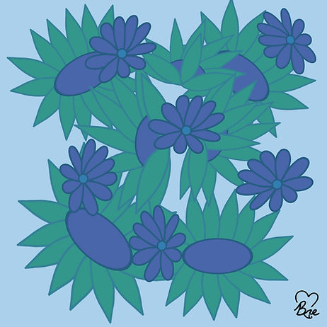 53. Aqua Green + Light Blue Flowers.jpg