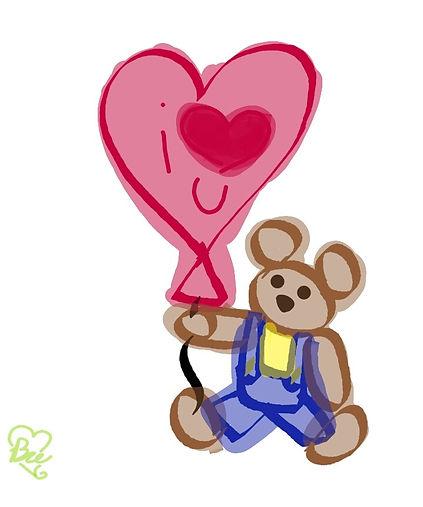 Teddy Love Balloon Memo.jpg