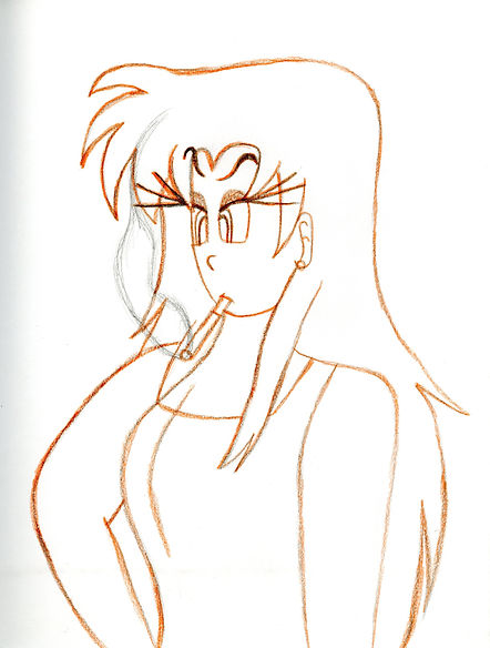 97. Akira Smoking Sketch.jpg