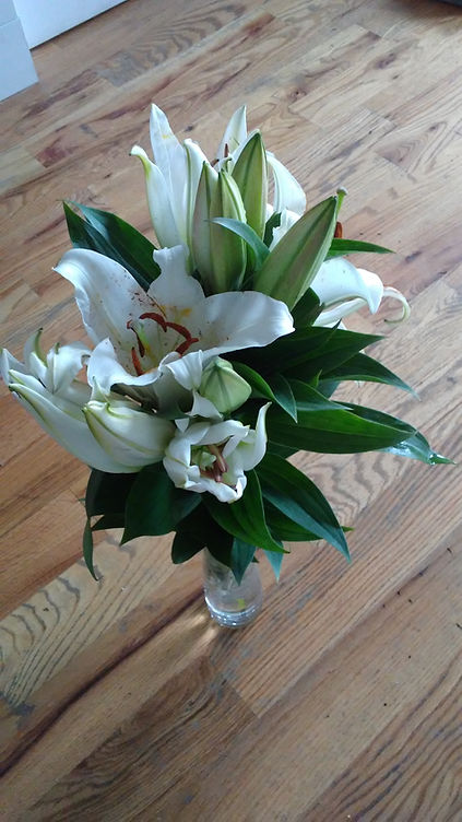 White Daylilies for Appreciation from Be